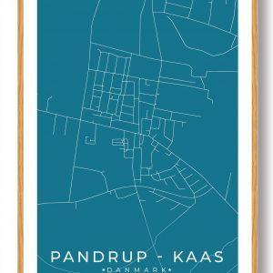 Pandrup - Kaas byplakat - blå