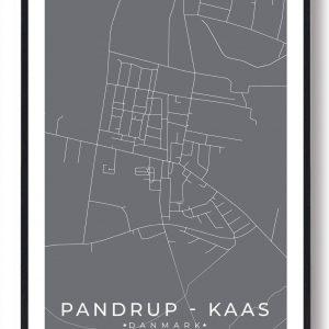 Pandrup - Kaas byplakat - grå