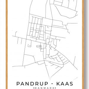 Pandrup - Kaas byplakat - hvid