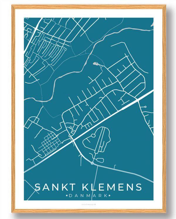 Sankt Klemens byplakat - blå