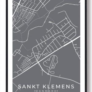 Sankt Klemens byplakat - grå