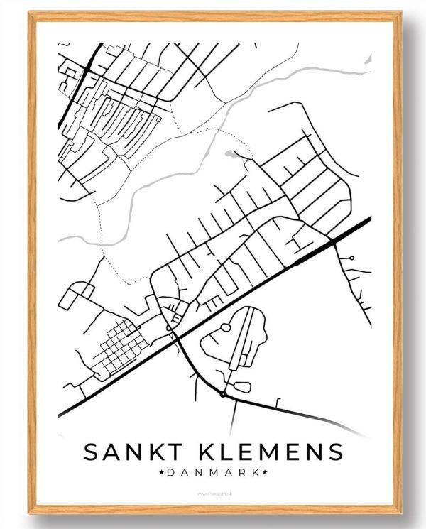Sankt Klemens byplakat - hvid
