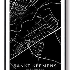 Sankt Klemens byplakat - sort