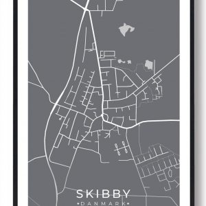 Skibby byplakat - grå