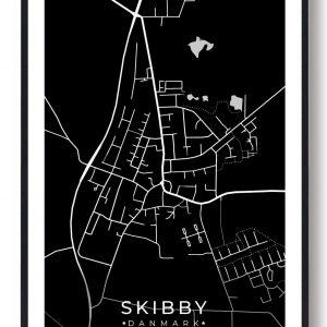 Skibby byplakat - sort