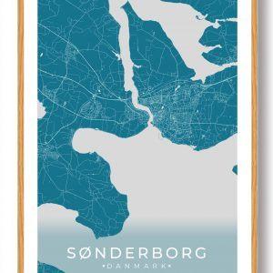 Sønderborg plakat - blå