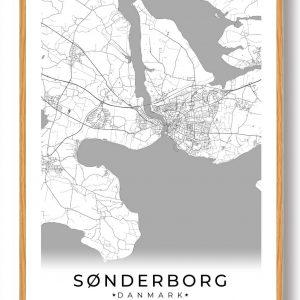 Sønderborg plakat - hvid