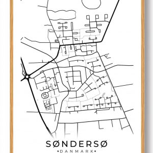 Søndersø byplakat - hvid