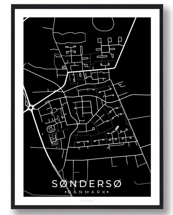 Søndersø byplakat - sort