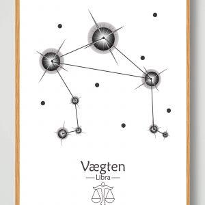 Stjernebillede vægten (hvid) - plakat