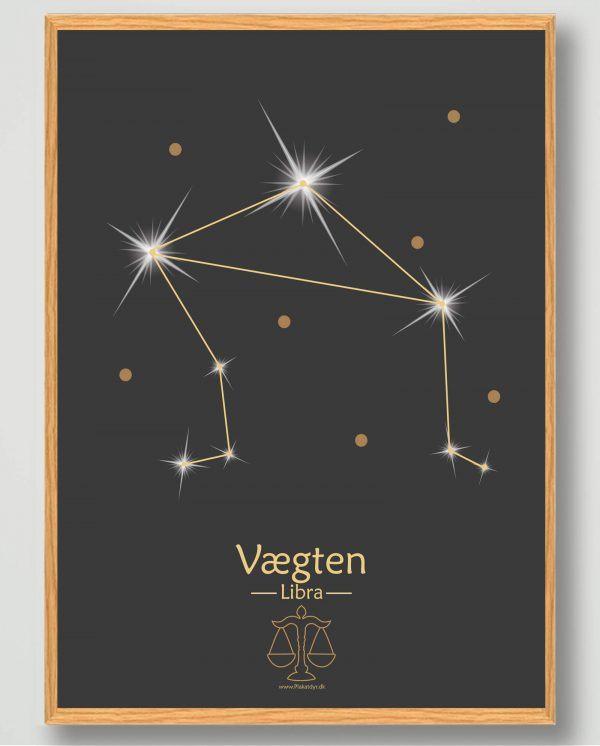 Stjernebillede vægten (sort) - plakat
