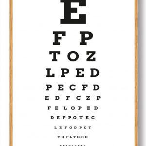 Synstavle bogstaver - plakat