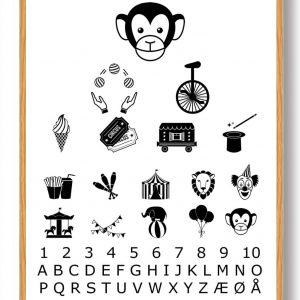 Synstavle cirkus - plakat