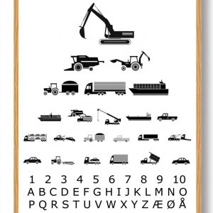 Synstavle industrimaskiner - plakat
