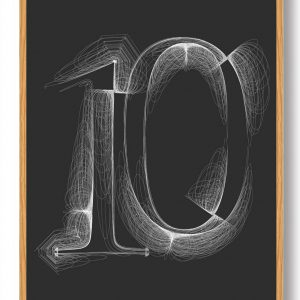 Tallet 10 - plakat