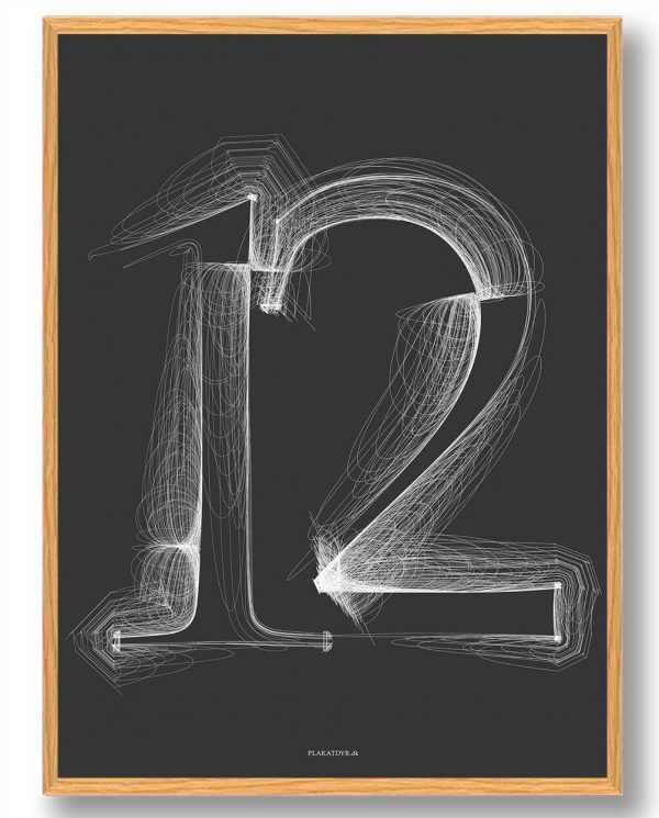 Tallet 12 - plakat