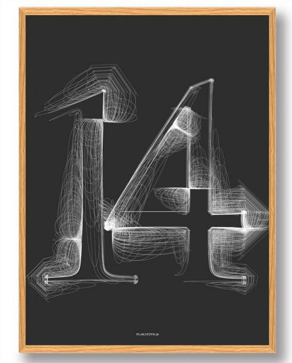 Tallet 14 - plakat
