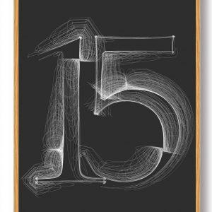 Tallet 15 - plakat