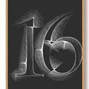 Tallet 16 - plakat