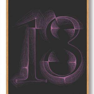 Tallet 18 - plakat