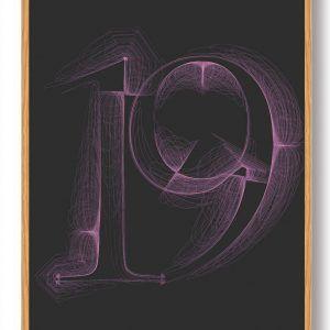 Tallet 19 - plakat