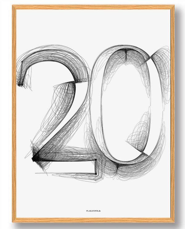 Tallet 20 - plakat