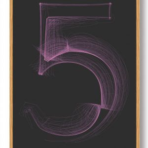 Tallet 5 - plakat