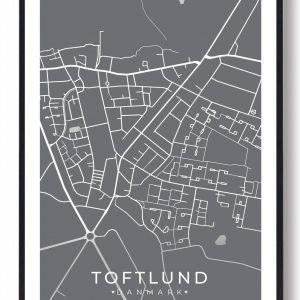 Toftlund plakat - grå