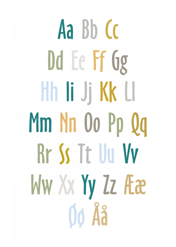 Alfabet - Børneplakat