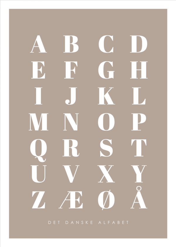 Alfabet plakat - Brun