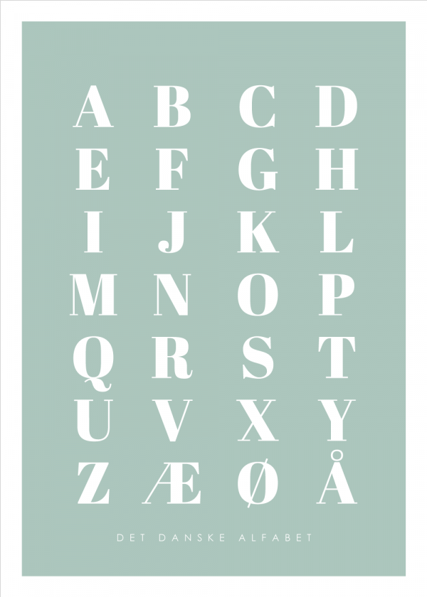 Alfabet plakat - Grøn