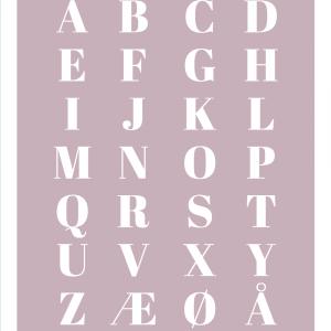 Alfabet plakat - Lyserød