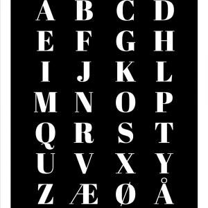 Alfabet plakat - Sort