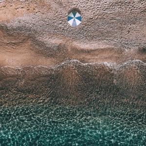 Beach umbrella - Airpixels plakat