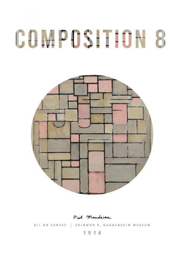 Composition 8 - Piet Mondrian