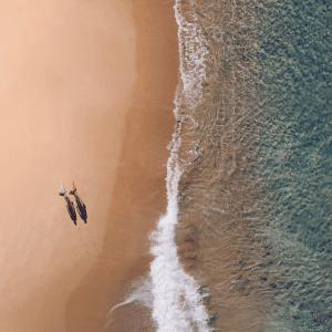 Eksotisk strand plakat