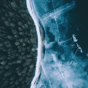 Frozen bay - Airpixels plakat