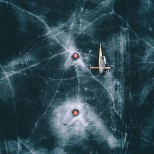 Ice yacht - Airpixels plakat