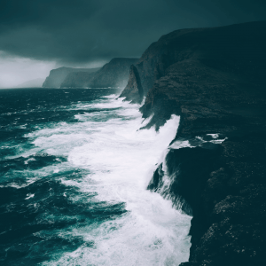 Islandske bølger - Airpixels plakat