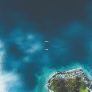 Kajak paradis - Airpixels plakat