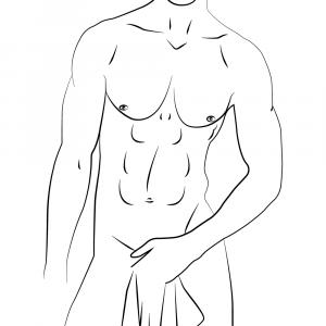Natural male body - Body positivity plakat