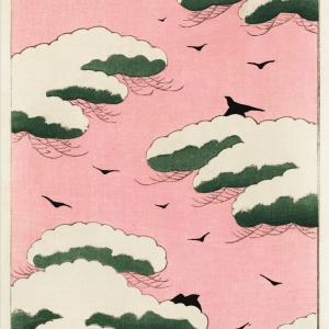 Pink sky - Japansk kunstplakat