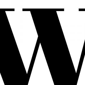 Plakat med bogstav - W