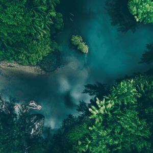 Seychellerne - Airpixels plakat