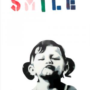 Smile girl - Banksy plakat