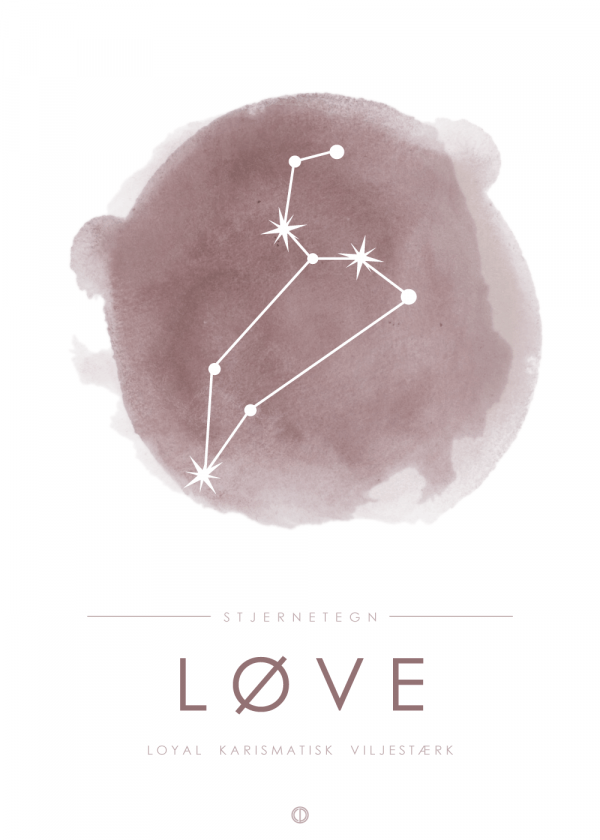 Stjernebillede plakat - Løve