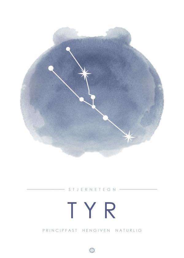 Stjernebillede plakat - Tyr