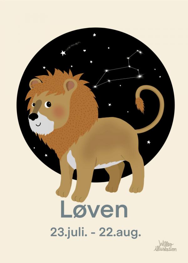 Stjernetegn løve - Børneplakat
