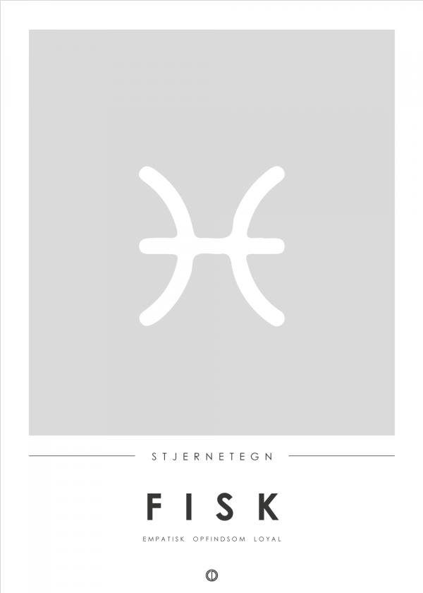Stjernetegn plakat - Fisk