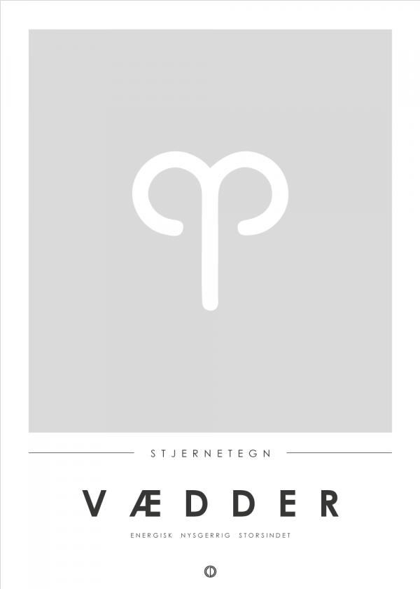 Stjernetegn plakat - Vædder